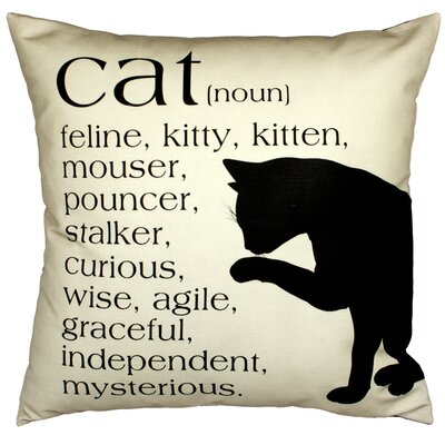 Cat Throw Pillow Color: Sand