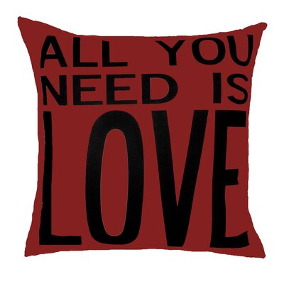 All You Need is Love Throw Pillow Color: Red