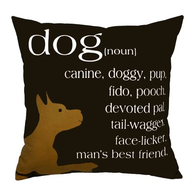 Dog Noun Throw Pillow