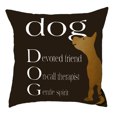 Dog Therapist Throw Pillow