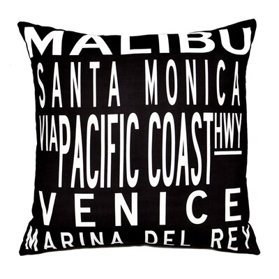 LA Coast Throw Pillow