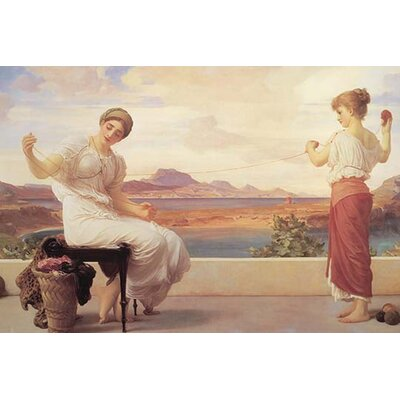 Winding The Skein by Frederick Leighton Painting Print Size: 28