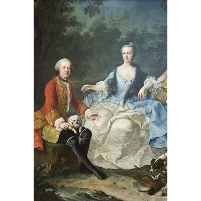 'Count Giacomo Durazzo in The Guise of A Huntsman with His Wife' by Martin Van Meytens Painting Print 0-587-60742-L