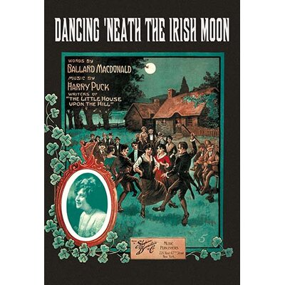 'Dancing 'Neath the Irish Moon' by Dunk Vintage Advertisement 0-587-00496-7