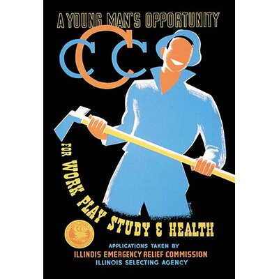 'A Young Man's Opportunity for Work, Play, Study, and Health' by Albert Bender Vintage Advertisement 0-587-01063-0