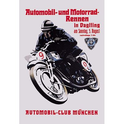 Automobile and Motorcycle Race - Munich Vintage Advertisement 0-587-00623-4