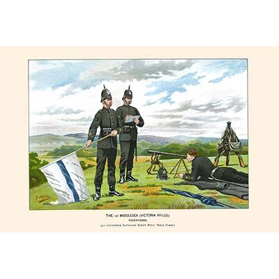 '1st Middlesex Victorian Rifles Volunteers' by Walter Richards Painting Print Size: 30