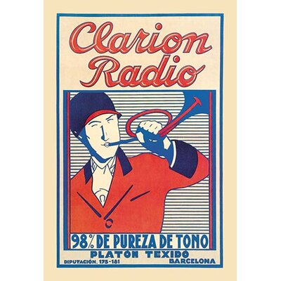 'Clarion Radio' by Anonymous Vintage Advertisement 0-587-01166-1