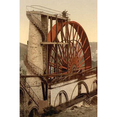 "'Laxey The Wheel Isle of Man England' Photographic Print Size: 36"" H x 24"" W x 1.5"" D 0-587-46068-LC2436"