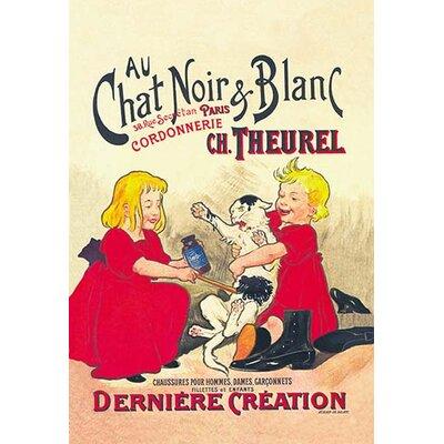 """Au Chat Noir et Blanc Vintage Advertisement Size: 42"""" H x 28"""" W x 1.5"""" D 0-587-01617-5"""