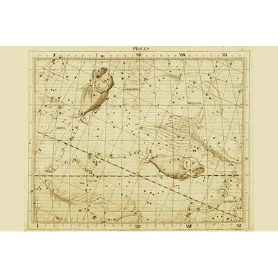 'Pisces' by Sir John Flamsteed Graphic Art Size: 30
