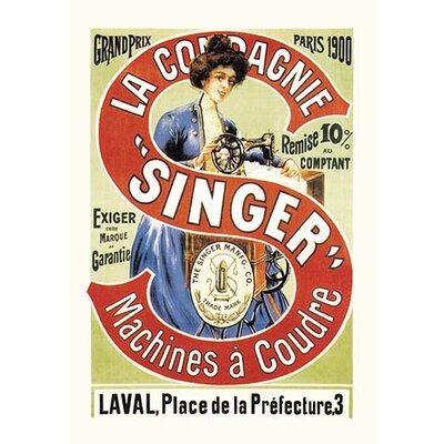 'La Compagnie Singer, Grand Prix 1900' Vintage Advertisement 0-587-01796-1