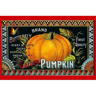 'Golden Pumpkin' Vintage Advertisement 0-587-31535-0C2842