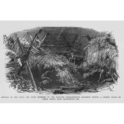 'Bivouac of The 12Th Massachusetts During A Stormy Night' by Frank Leslie Painting Print Size: 42
