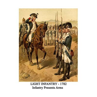 'Light Infantry 1782 Infantry Presents Arms' by Henry Alexander Ogden Painting Print Size: 66