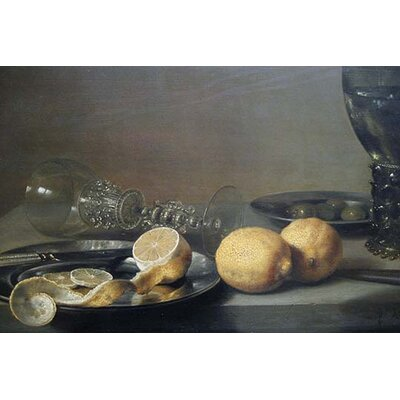 'Still Life with Two Lemons' by Peter Da Heem Painting Print 0-587-60880-L
