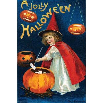 'A Jolly Halloween' by Ellen M. Clapnoddle Graphic Art 0-587-27587-1