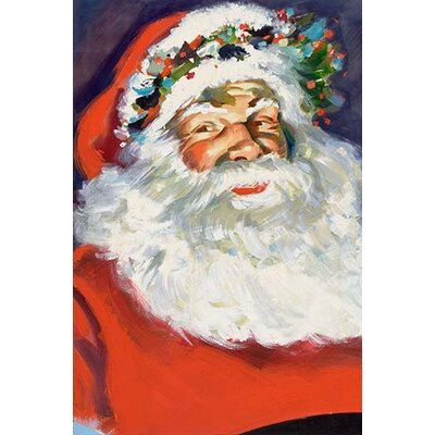'Potrait of Santa Claus' Painting Print 0-587-33390-1C2436