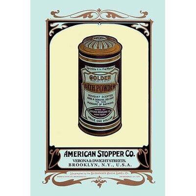 Golden Bath Powder Vintage Advertisement 0-587-08041-8