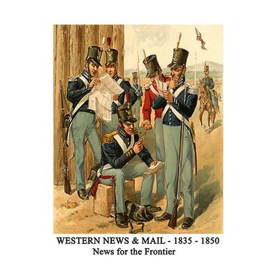 'Western News and Mail 1835 1850 News for The Frontier' by Henry Alexander Ogden Graphic Art