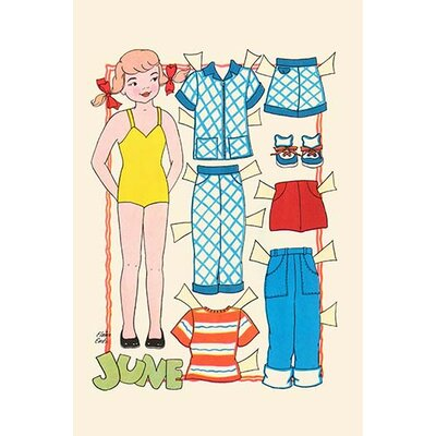 "'June Dress Up Doll' by Elaine Ends Painting Print Size: 36"" H x 24"" W x 1.5"" D 0-587-30326-3"