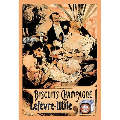 Biscuits Champagne by Alphonse Mucha Vintage Advertisement 0-587-00577-7