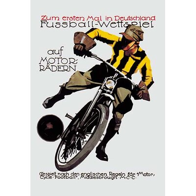 Soccer on Motorcycle Vintage Advertisement 0-587-00634-xC2436