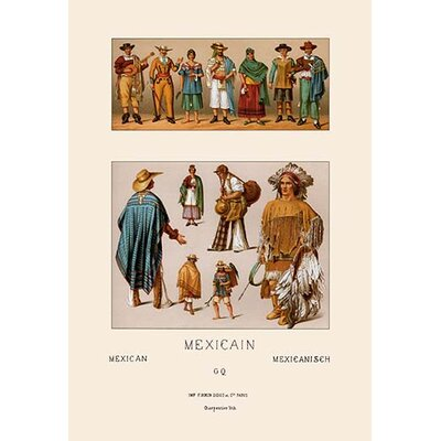Clothing of Mexico by Auguste Racinet Graphic Art 0-587-10867-3C2436