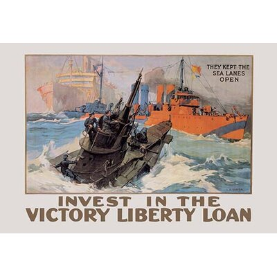 'They Kept the Sea Lanes Open - Invest in the Liberty Loan' by Leon Alaric Shafer Vintage Advertisement