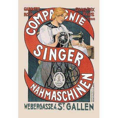 Compagnie Singer Nahmaschinen Vintage Advertisement 0-587-01803-8