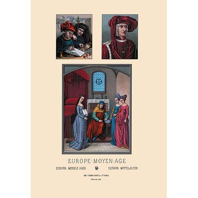 'Europe Furniture of Pageantry 15th Century' by Auguste Racinet Graphic Art 0-587-13785-1
