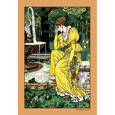 The Frog Prince - In Yellow by Walter Crane Framed Painting Print 0-587-09600-4