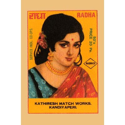 'Radha' Vintage Advertisement Size: 42