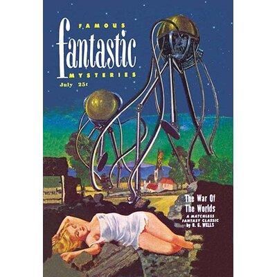 """Famous Fantastic Mysteries: Tentacled Robots Vintage Advertisement Size: 42"""" H x 28"""" W x 1.5"""" D 0-587-02076-8"""