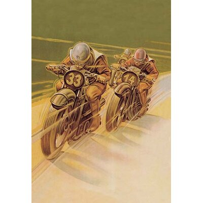 Motorcycle Racing by Klokein Vintage Advertisement 0-587-00632-3C2436