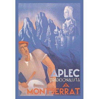 Montserrat: Aplec Tradicionalista by Buigas Vintage Advertisement