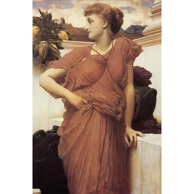 """Image of At The Fountain by Frederick Leighton Painting Print Size: 36"""" H x 24"""" W x 1.5"""" D"""