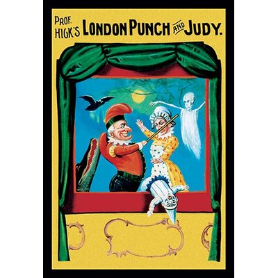 'Prof. Hicks London Punch and Judy' Vintage Advertisement on Canvas