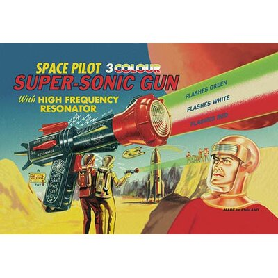 Space Pilot Super-Sonic Gun Vintage Advertisement 0-587-01720-1
