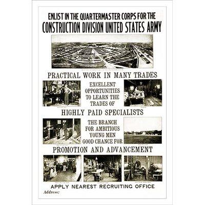 'Construction Division' Vintage Advertisement