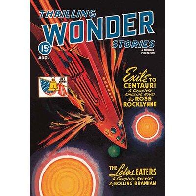 Thrilling Wonder Stories: Rocket Ship Troubles Vintage Advertisement Size: 42