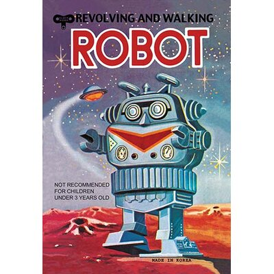 Revolving and Walking Robot Vintage Advertisement 0-587-02075-x