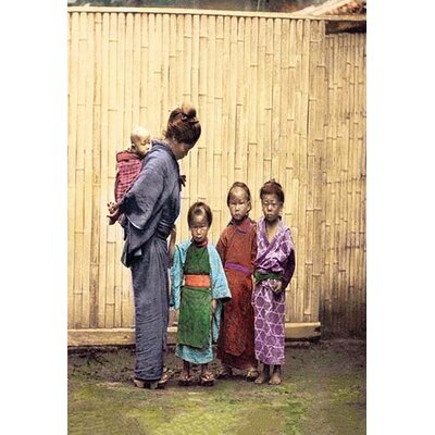 Woman with Children by Beato Photographic Print Size: 66