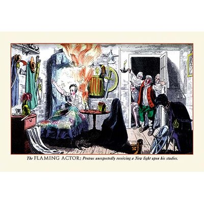 'The Flaming Actor' by Pierce Egan Painting Print 0-587-06405-6