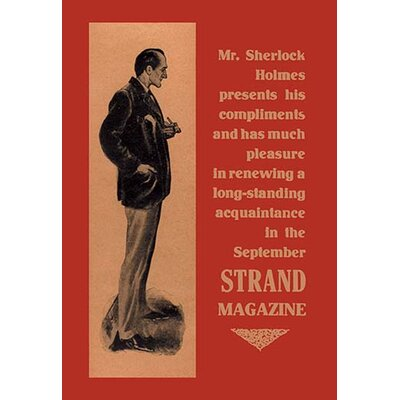 Sherlock Holmes Presents His Compliments Vintage Advertisement 0-587-05098-5