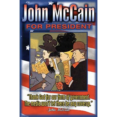 'John Mccain for President' by Wilbur Pierce Vintage Advertisement 0-587-22396-0