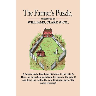 'The Farmer's Puzzle' by American Puzzle Co. Vintage Advertisement Size: 66