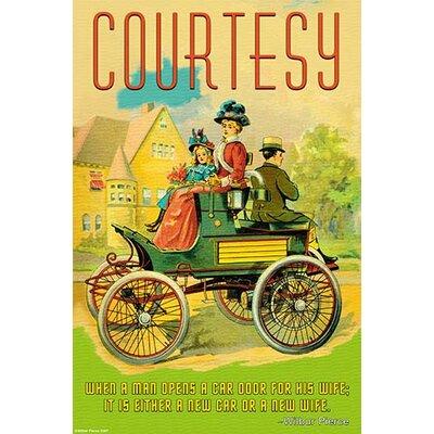 'Courtesy' by Wilbur Pierce Vintage Advertisement Size: 66