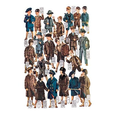 Little Boys Modelling Garments Vintage Advertisement 0-587-03260-xC4466