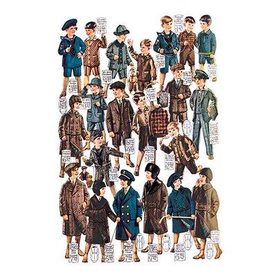 Little Boys Modelling Garments Vintage Advertisement 0-587-03260-x